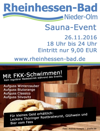sauna event im rheinhessen bad verbandsgemeinde nieder olm. Black Bedroom Furniture Sets. Home Design Ideas